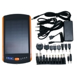 ExtraDigital Solar Super Pack + FlashLight, 23000 mAh - Black-Orange (MP-S23000)