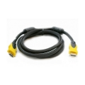ExtraDigital Video Cable HDMI to HDMI, 1.5m, Double ferrites, nylon, позолоченные коннекторы, Blist