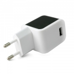ExtraDigital Wall Charger, 5В / 2400мА - Black&White (B-112)