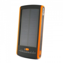 ExtraDigital Solar Universal Ext. Battery Pack, 12000 mAh - Black/Orange (PB-S12000)