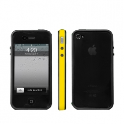 Fonemax Body Kit Case Yellow/Black for iPhone 4