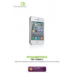 Fonemax FONEPRO Purple/Anti-glare film set for iPhone 4, 4S