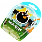 Angry Birds Stereo Headphones Tweeters Black for iPad, iPhone, iPod (HAB004G)