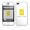 GelaSkins Charity Water Logo On White for iPhone 4