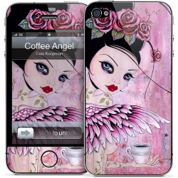 Gelaskins Coffee Angel for iPhone 4, 4S