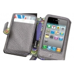 Griffin Elan Passport Wallet Platinum Leather for iPhone 4, 4S (GB01715)