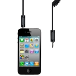 Griffin Auxiliary Audio Coiled Cable Black for iPad/iPhone/iPod (GC17055)