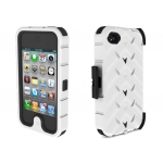 Gumdrop Drop Series Case White/Black for iPhone 4 (DS4G-WHI-BLK)