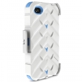 Gumdrop Drop Series Case White/Blue for iPhone 4 (DS4G-WHI-BLU)