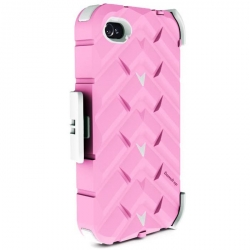 Gumdrop Drop Series Case Pink/White for iPhone 4 (DS4G-PNK-WHI)