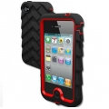 Gumdrop Drop Series Case Black/Red for iPhone 4 (DS4G-BLK-RED)