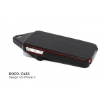 Hoco Duke Leather Case Black for Apple iPhone 4, 4S (NIP-OU182)