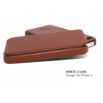 Hoco Duke Leather Case Brown for Apple iPhone 4, 4S (NIP-OU182)