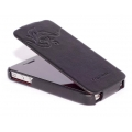 Hoco Earl Fashion Flip Case for iPhone 4, 4S (Black)