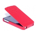 Hoco Earl Fashion Flip Case for iPhone 4, 4S (Red)
