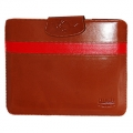 Hoco Leather Case Light Brown/Red for iPad