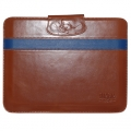 Hoco Leather Case Light Brown/Blue for iPad