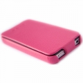 Hoco Duke Leather Case Pink for Apple iPhone 4, 4S (NIP-OU182)