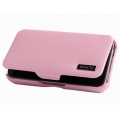 Hoco Leather Case Baron for iPhone 4, 4S - Pink