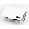 Hoco Leather Case Baron for iPhone 4, 4S - White