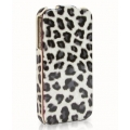 Hoco Leopard Real Leather Case for iPhone 4, 4S - Gray