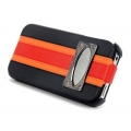 Hoco Marques Fashion Leather Case for iPhone 4, 4S - Black