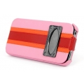 Hoco Marques Fashion Leather Case for iPhone 4, 4S - Pink