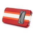 Hoco Marques Fashion Leather Case for iPhone 4, 4S - Red