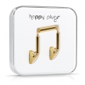 Happy Plugs Headphones Deluxe Edition Earbud Gold (7727)