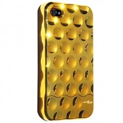 Hard Candy Cases Bubble Slider Chrome/Gold for iPhone 4 (BS4G-CHR-GLD)