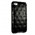 Hard Candy Cases Bubble Slider Soft Touch Black for iPod Touch 4G