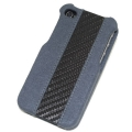 ION Carbon Fiber Velvet Shell Grey for iPhone 4, 4S (i869- FGY001)