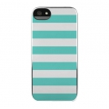 Incase Snap Case Stripes Chrome/Blue for iPhone 5, 5S (CL69154)