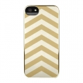 Incase Chevron Snap Case for iPhone 5, 5S - Gold Chrome & Cream Chevron (CL69156)