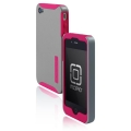 Incipio Silicrylic Hard Shell Case Pink/Silver for iPhone 4 (IPH-507)