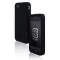 Incipio Derma Shot Silicone Case Black for iPhone 4 (IPH-500)