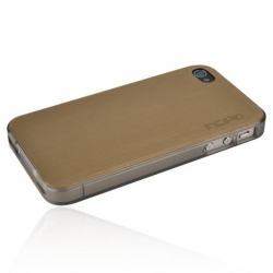 Incipio Metal Case with Polycarbonate Frame Le Deux Gold/Mercury for iPhone 4, 4S (INC-IPH683)