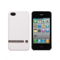 Jison Case Tripod Stand Hard Cover for iPhone 4, 4S - White (JS-IP4S-06H00)