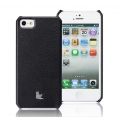 Jison Smart Case of Folded Edge for iPhone 5, 5S - Black