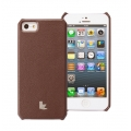 Jison Smart Case of Folded Edge for iPhone 5, 5S - Brown