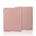 Jison Executive Smart Cover for iPad 4, iPad 3, iPad 2 - Pink
