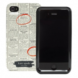 Kate Spade Premium HardShell Case Newspaper for iPhone 4 (Style 01959-0)