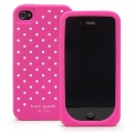 Kate Spade Premium Silicone Case Flushed Dots for iPhone 4, 4S (Style 01987-0)