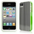 Kate Spade Premium HardShell Case Ticking Stripe for iPhone 4 (Style 01992-0)