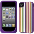 Kate Spade Premium Silicone Case Vertical Violet for iPhone 4 (Style 01985-0)