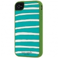 Kate Spade Premium Silicone Case Horizontal Green for iPhone 4 (Style 01986-0)