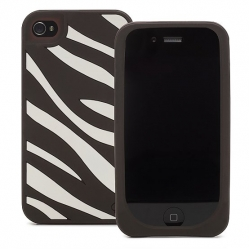 Kate Spade Premium Silicone Case Edie Zebra for iPhone 4 (Style 01993-0)