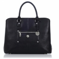 "Knomo Lille Leather Bag for Laptops with 13"" - Black (KN-10-156-BLG)"