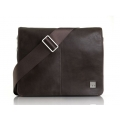 "Knomo Leather Bag Kilkenny for Laptops with 11"", Brown (KN-54-107-BRN)"