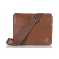 "Knomo Leather Messenger Bag Kilkenny for Macbook 11"" & iPad`s, Tan (KN-54-106-TAN)"